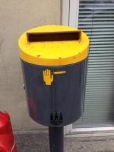 Public Sharps disposal bin in Copenhagen
